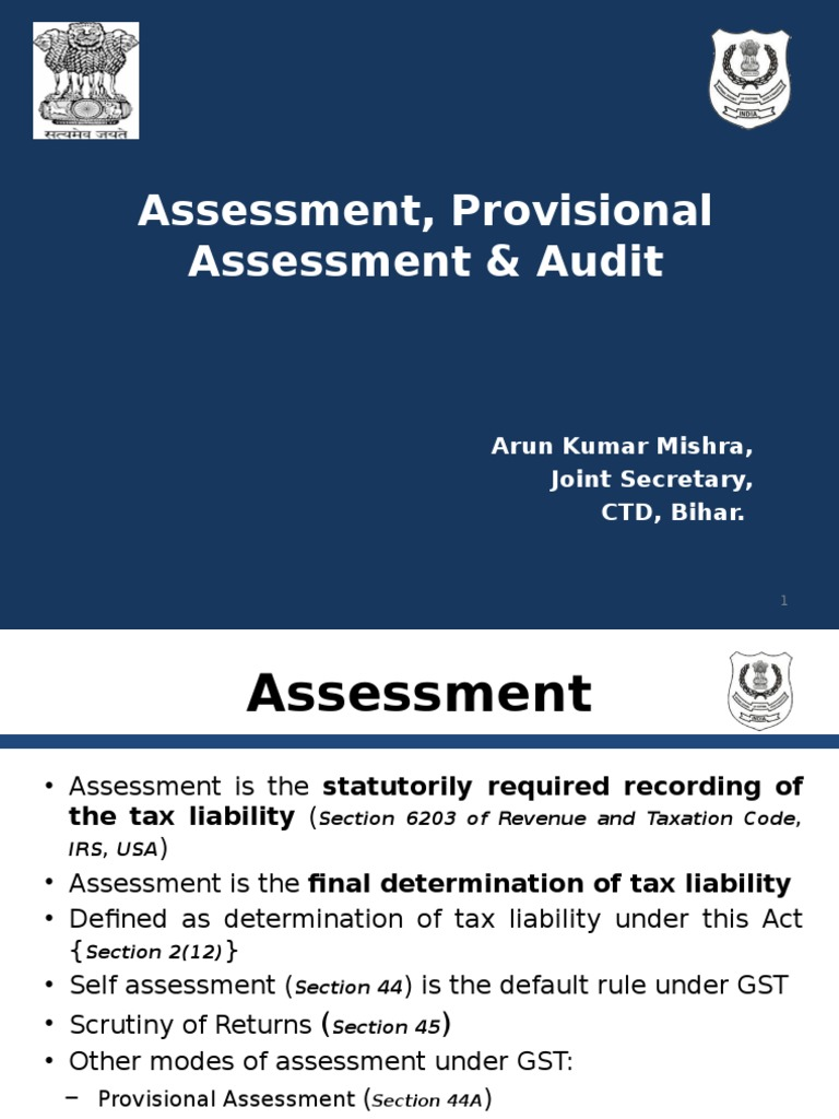 9 Assessment Audit Audit Auditor S Report Goods and service tax (gst) assessment forms. scribd