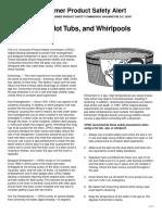 ConsumerProductSafetyAlert-Spas, Hot Tubs and Whirlpools