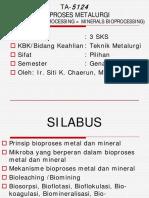 Materi 1 Bioproses Metalurgi Sent