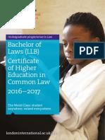 Law Prospectus 2016-17