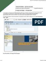 SAP Web Dynpro Quick Guide