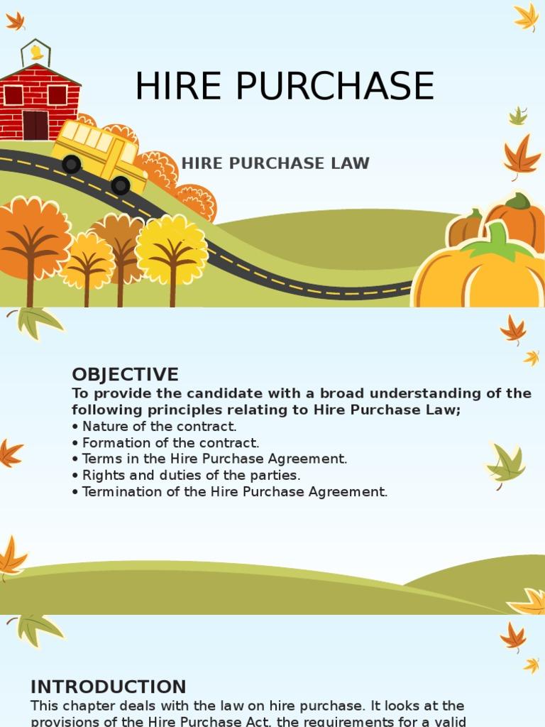 Hire Purchase Guarantee Contractual Term