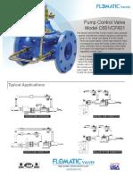 Flomatic Pump Control Valve
