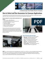 Bodine Sizing Gearmotors for Conveyor Apps