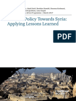 2017 03 15 Western Policy Towards Syria Lessons Learned