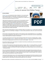 Kolkata Will Take a Century to Recover From Mother Teresa - The Economic Times