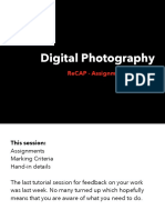 Digital Photography - Re-Cap and Hand-In Details