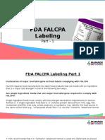 FDA Falcpa Labeling
