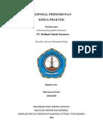 Proposal Permohonan Pt. Madhani Talanta Nusantara