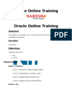 Oracle Online Training in Hyderabad
