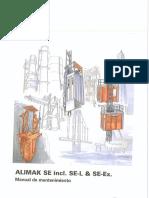 ALIMAK SE Incl. SE-L & SE-EX Manual de Mantenimiento