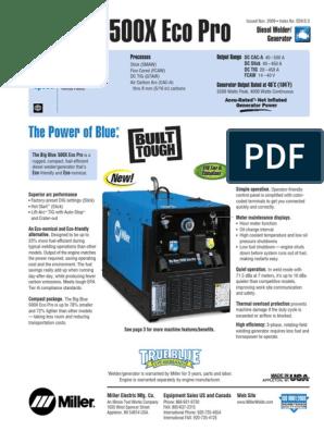 Miller Welding Generator-big Blue 500x Eco Pro (1) | Welding
