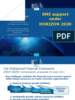 Sme Support Under Horizon 20220