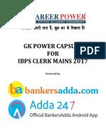 Gk Power Capsule for Ibps Clerk Mains Edited Finally by Gopal Sir1