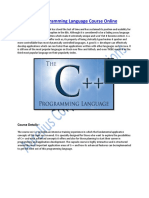 Online Training on C++ Programming Language