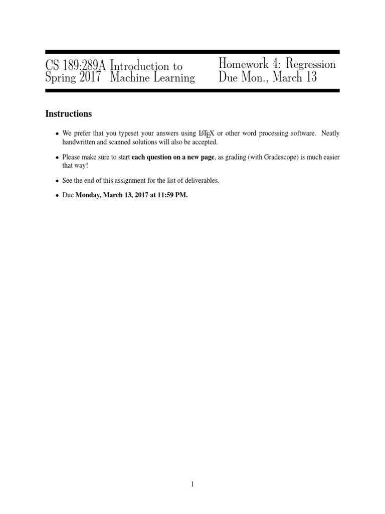 hw4 | Support Vector Machine | Regression Analysis