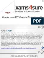 ACT Exam Questions