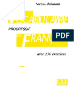 OCR - Vocabulaire Progressif- Niveau Debutant