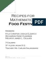 Recipes for Mathematics