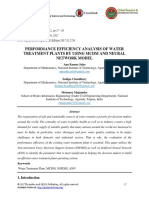 Performance Efficiency Analysis of Water Treatment Plants by Using Mcdm and Neural Network Model