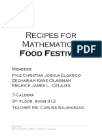Recipes for Mathematic1