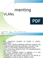 Implementing VLAN