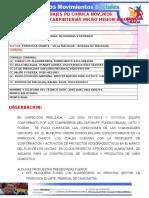 ABORDAJE PQ. CHIRICA 2016 Micromision de Insumos