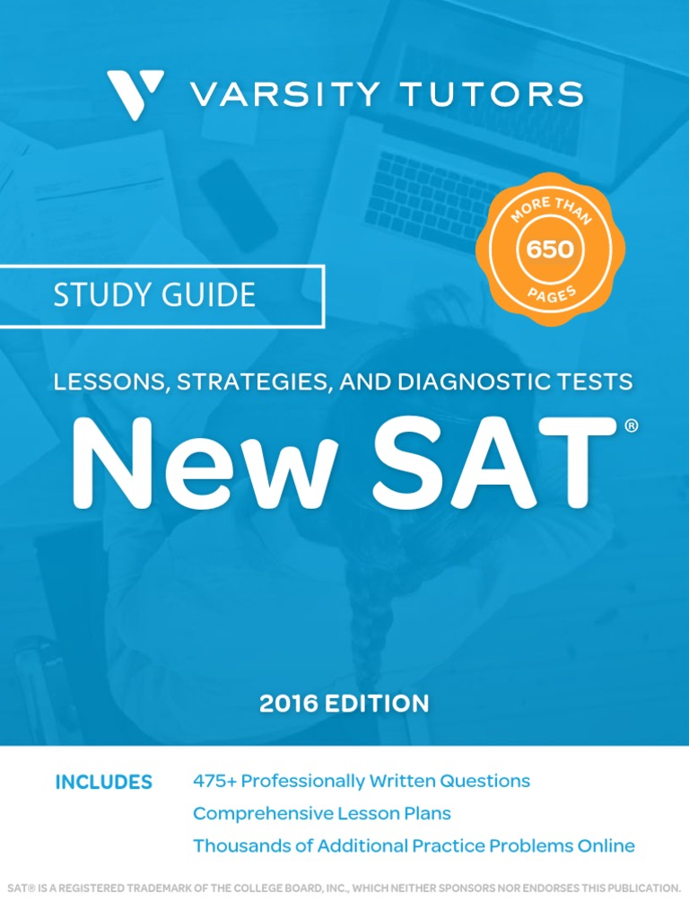 Varsity tutors sat book first edition sat test assessment fandeluxe Choice Image