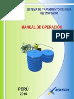 Manual de Operaciones Planta de Osmosis EXSA 2016