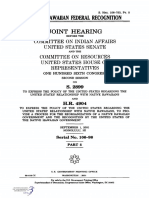 SENATE HEARING, 106TH CONGRESS - NATIVE HAWAIIAN FEDERAL RECOGNITION