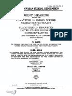 SENATE HEARING, 106TH CONGRESS - [ERRATA] NATIVE HAWAIIAN FEDERAL RECOGNITION