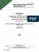 SENATE HEARING, 106TH CONGRESS - NATIVE AMERICAN GRAVES PROTECTION AND REPATRIATIONS ACT