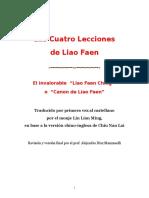 Las 4 Lecciones de Liao Faen