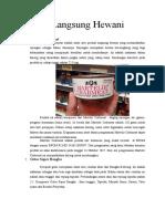 Laporan Praktikum Higiene Pangan ( Produk Langsung Hewani )