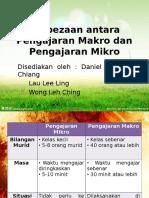 Perbezaan Antara Pengajaran Makro Dan Pengajaran Mikro