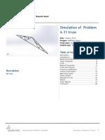 Problem 6.31 Truss-Static 1-1report