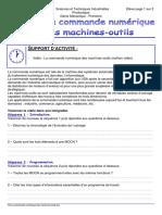 Td La Commande Numerique Des Machines Outils