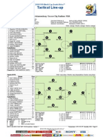 Netherlands-Spain Final FIFA 2010 Tactical Lineup