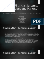 Indian Financial Systems, Institutions and Markets -NPA