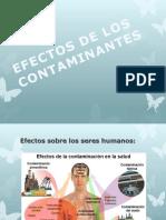 Efectos de Los Contaminantes
