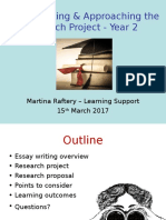 Essay Writing and Approaching Your Research Project