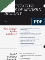 13-Quantitative Views of Modern Biology