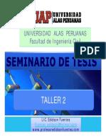 Taller 02 -- Seminario de Tesis 2017