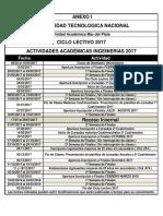 Calendario2017 Actividades Academicas Ingenierias