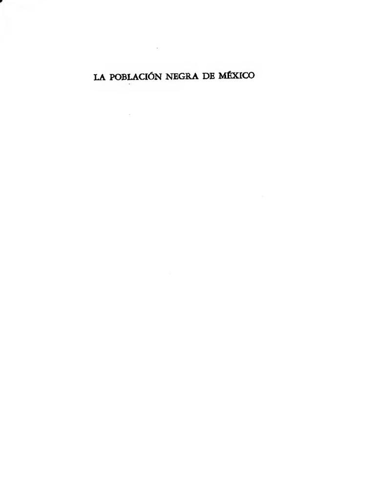 Aguirre Beltrán- La Población Negra en México