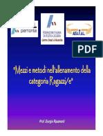 Allenamento Categoria Ragazzi Ripamonti Giorgio 2009 Fidal Piemonte