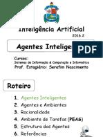Agentes Inteligentes 1 Agentes e Ambientes