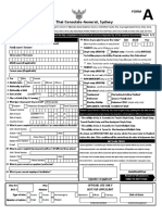 Visa Application Form A