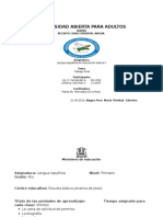 Trabajo Final de Lengua Española en Educacion Basica 2