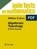 (Series_ Graduate Texts in Mathematics, Vol. 153) William Fulton-Algebraic Topology_ a First Course-Springer-Verlag (1995)